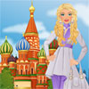 Girl visits Moscow